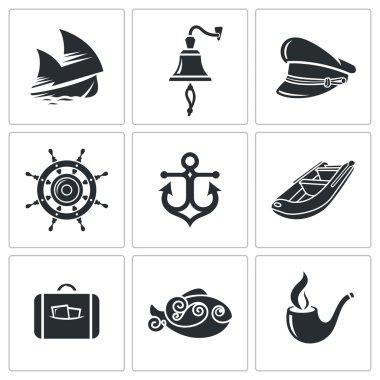 Sea Tourism  Icons Set