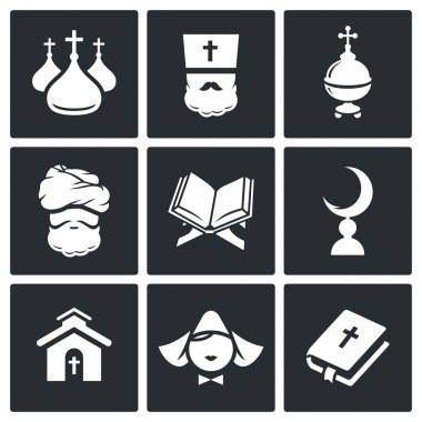 Religion, faith Icon set