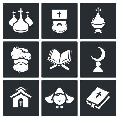 Religion, faith Icon set