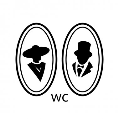 Toilet, wc   sign, icon