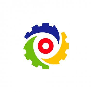 Gear, Mechanism abstract sign