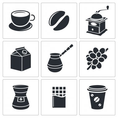 Coffee drinking icon collection