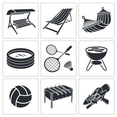 Recreation, hobbies icons
