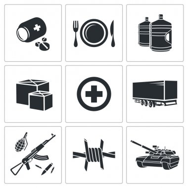Humanitarian relief Icons