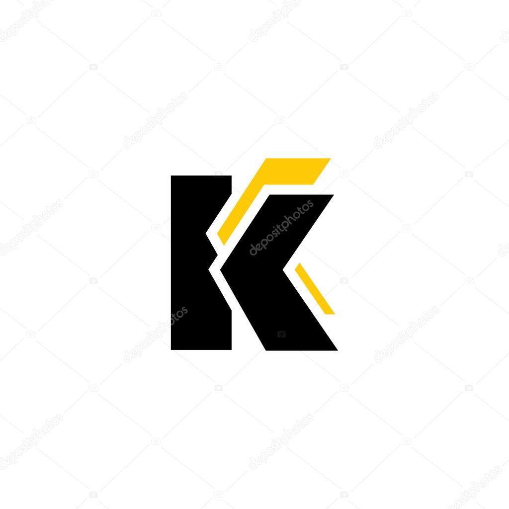 Signo de la letra K y el icono de C — Vector de stock © steinar14 ...