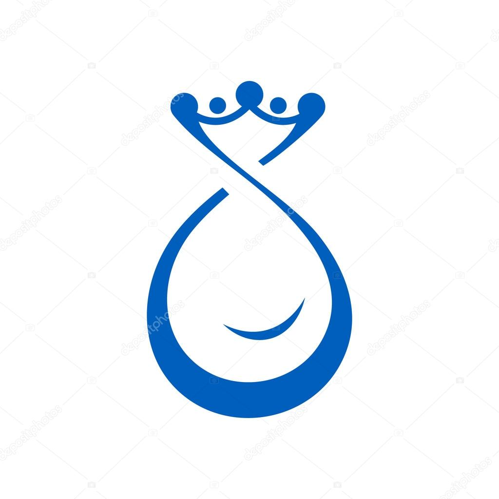 Drop of water with crown