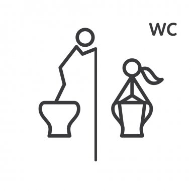 WC, toilets sign