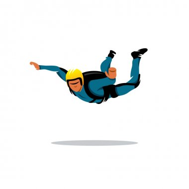 Skydiving man sign