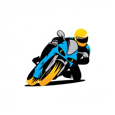 Motorcycle races  sign