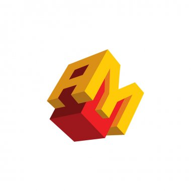 Sign  letter A and M icon
