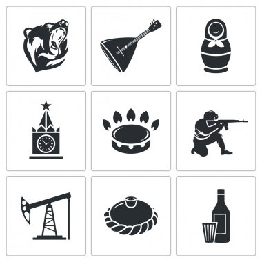 Russian World  Icons Set