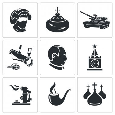 Russia  Icons Set