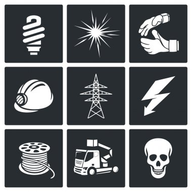 Electrical Company Icons set