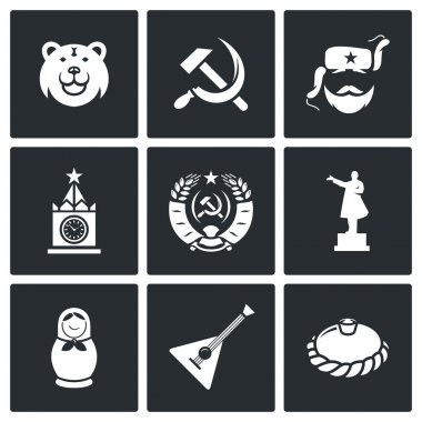 Russia  country icons.