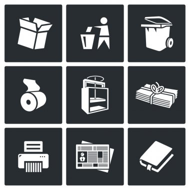 Waste paper icons.