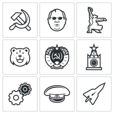 Soviet union icons.