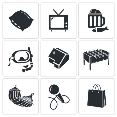 Leisure, recreation   Icons Set