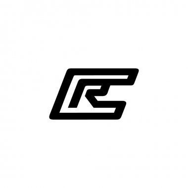 Sign of letters C and R logo