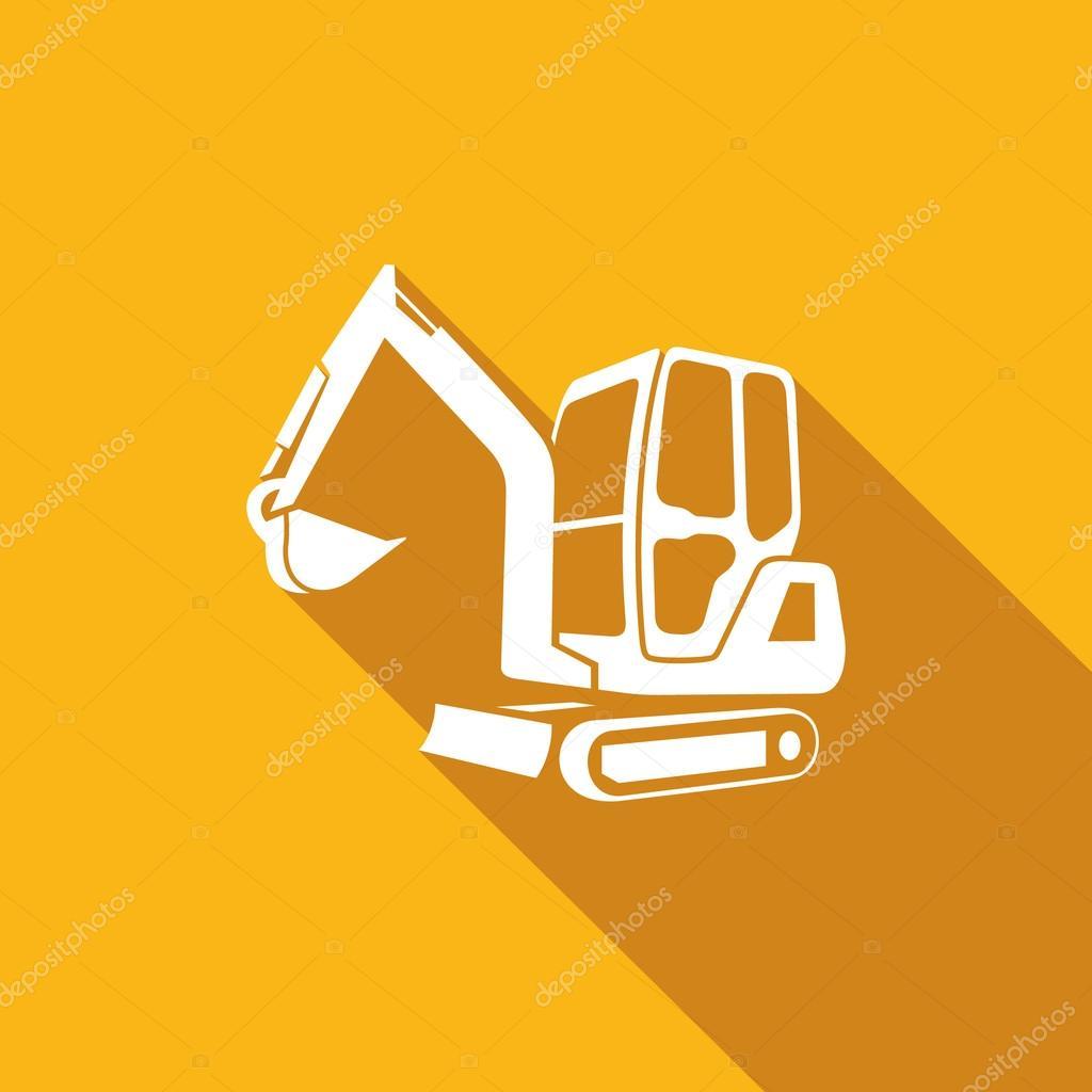 Excavator transport  icon