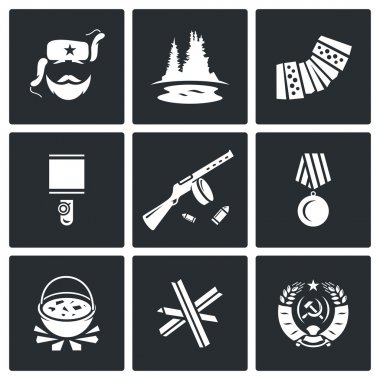 Guerrillas warrior icons