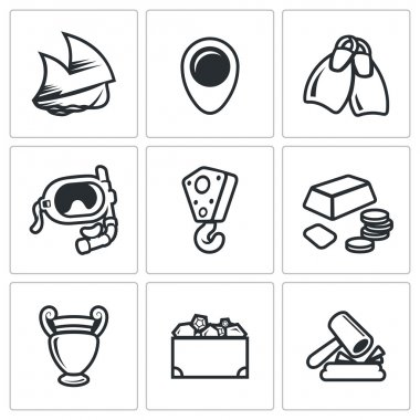 Treasure hunt icons