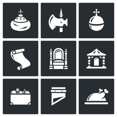 Principality icons set