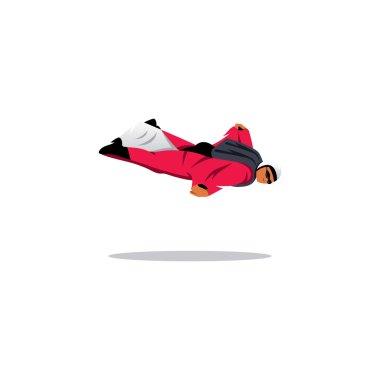Wingsuit jumper sign