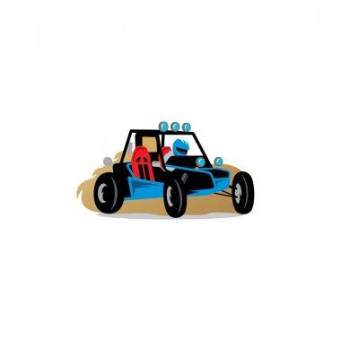 Buggy race car sign.