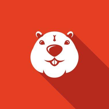 Beaver head Isolated Flat Icon