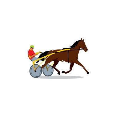 Athlete runs horse carriage