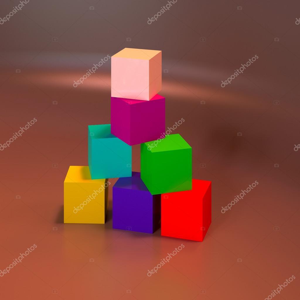Figuras geom tricas 3d abstractas cubos de fotos de for Imagenes abstractas 3d