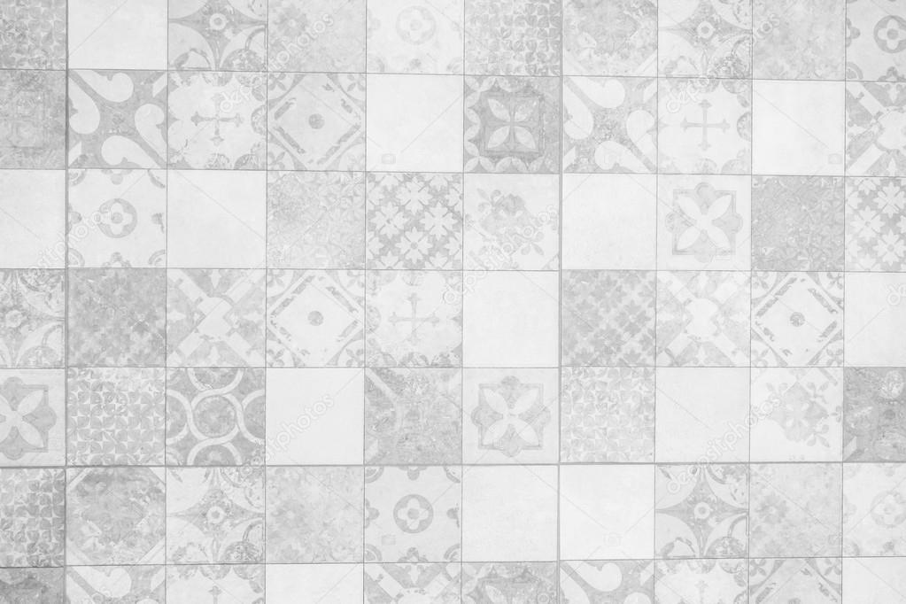 Gray and white tiles wall textures — Stock Photo © mrsiraphol ...