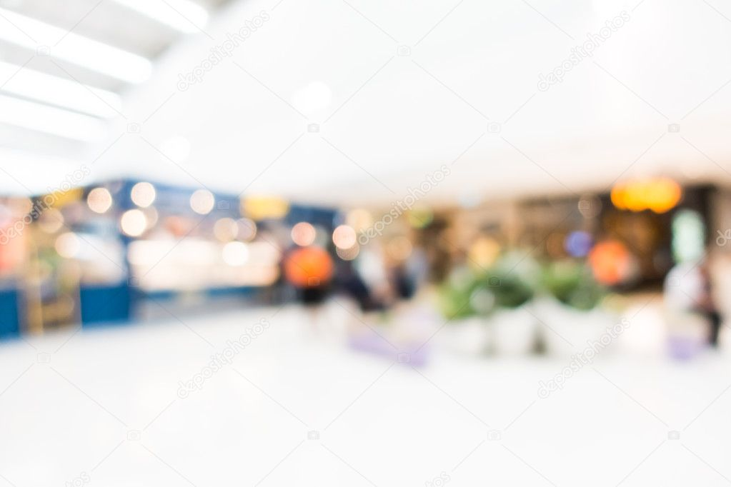 blur shopping mall interior