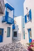 Fotografie Krásnou architekturu stylem santorini a Řecko