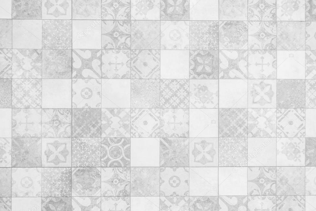 Grigio e bianco piastrelle texture delle pareti u foto stock