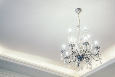 Chandelier decoration in living room