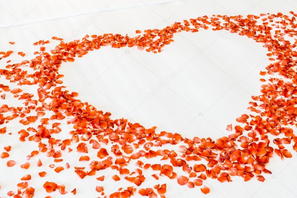 coussins blancs sur le lit et p tales de rose photographie mrsiraphol 103268326. Black Bedroom Furniture Sets. Home Design Ideas