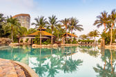 Luxusní bazén s palmami