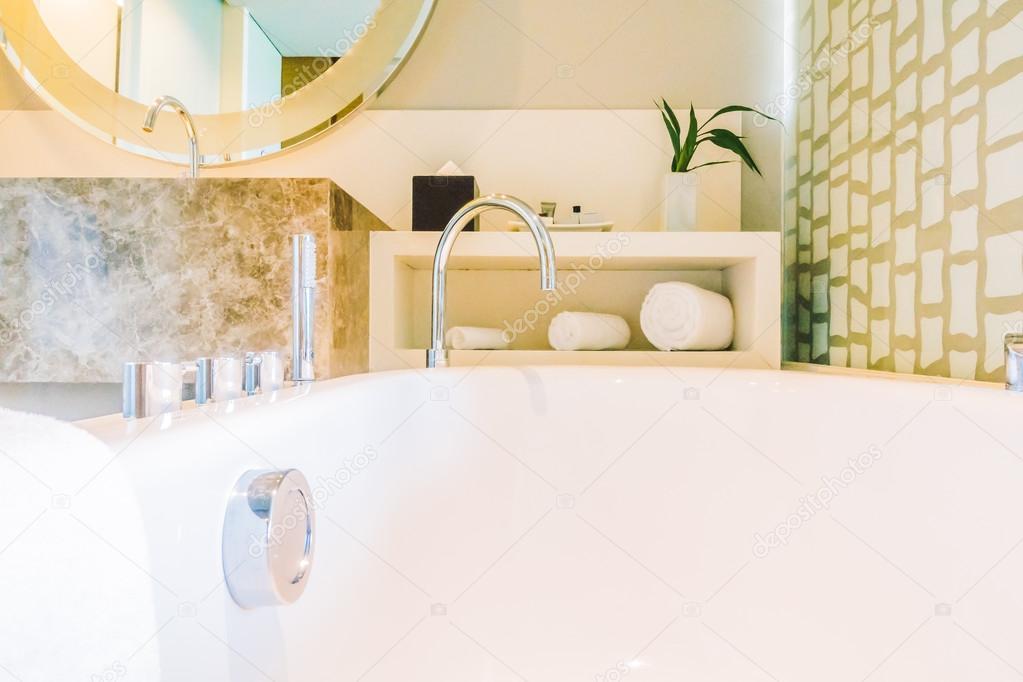 decoratie in de badkamer interieur — Stockfoto © mrsiraphol #109410308