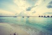 Nádherný tropický resort Maledivy