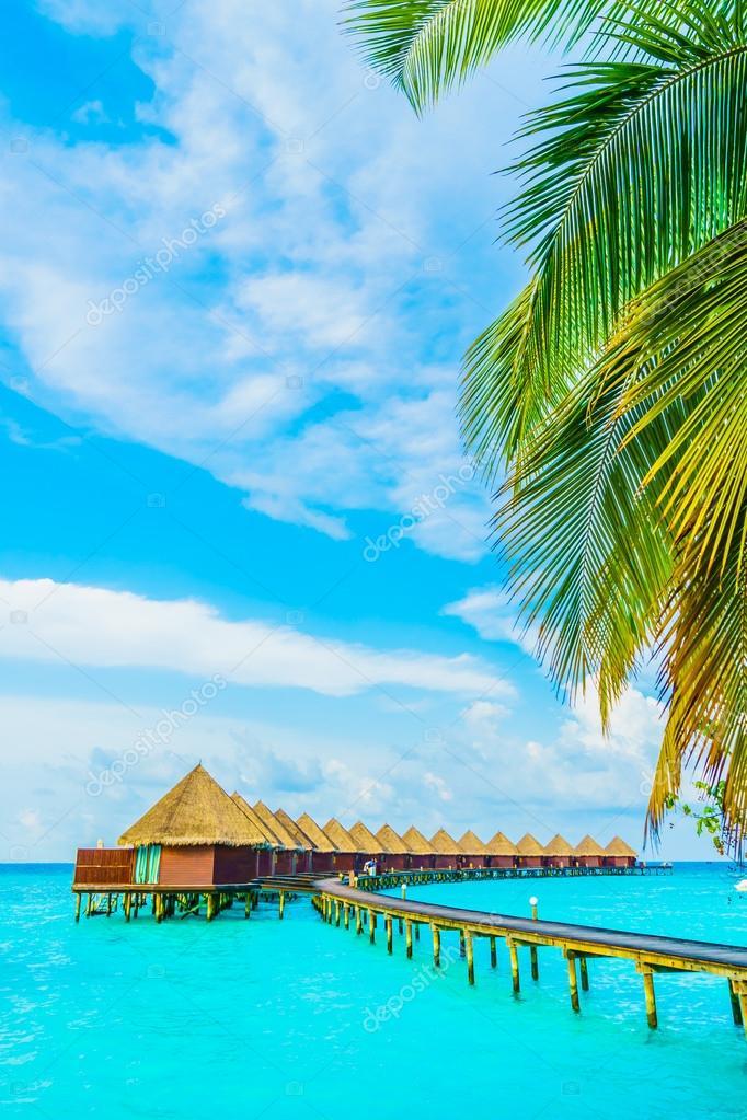 Beautiful tropical Maldives resort