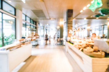 Abstract blur Beautiful luxury restaurant interior