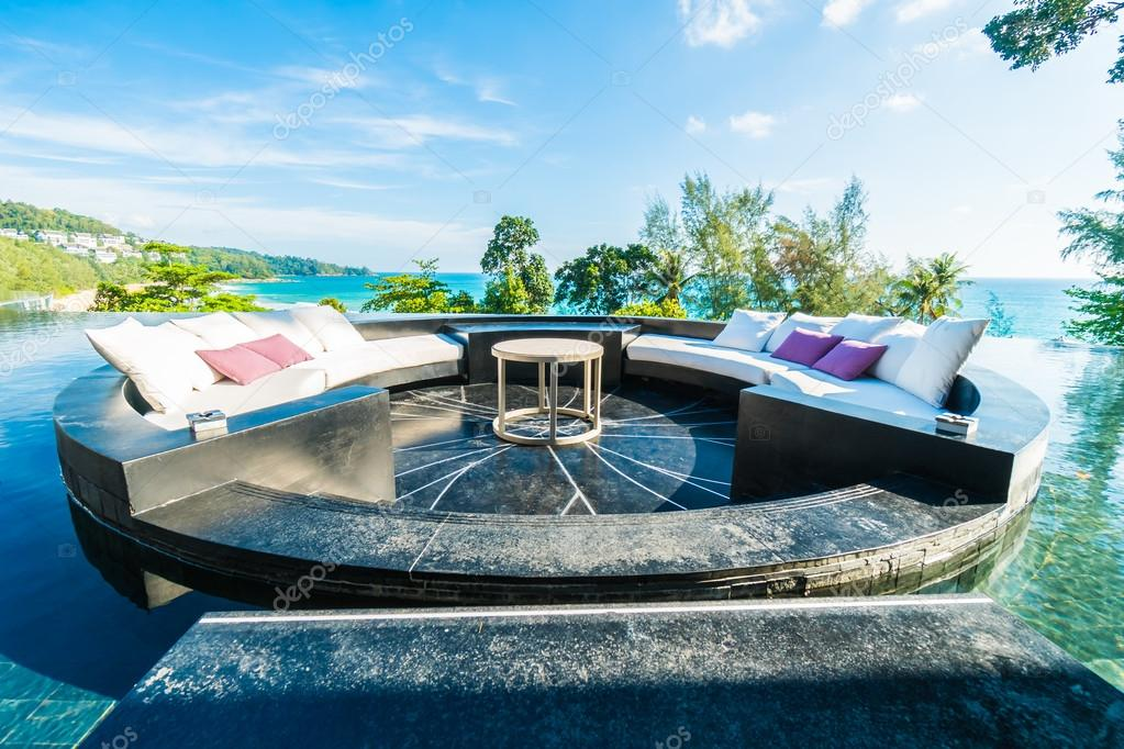 Beautiful luxury outdoor patio