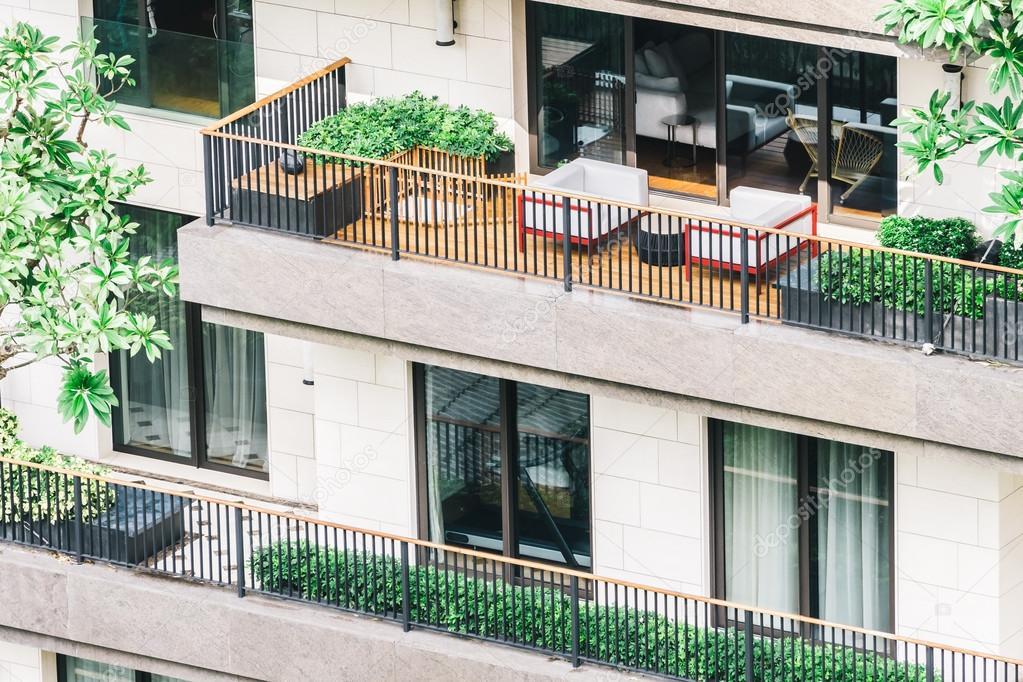 Exterior De La Terraza Del Edificio Foto De Stock