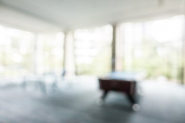 Abstract blur sport room