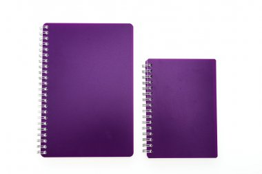 Colorful blank notebook