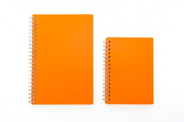Colorful blank notebook isolated on white background stock vector