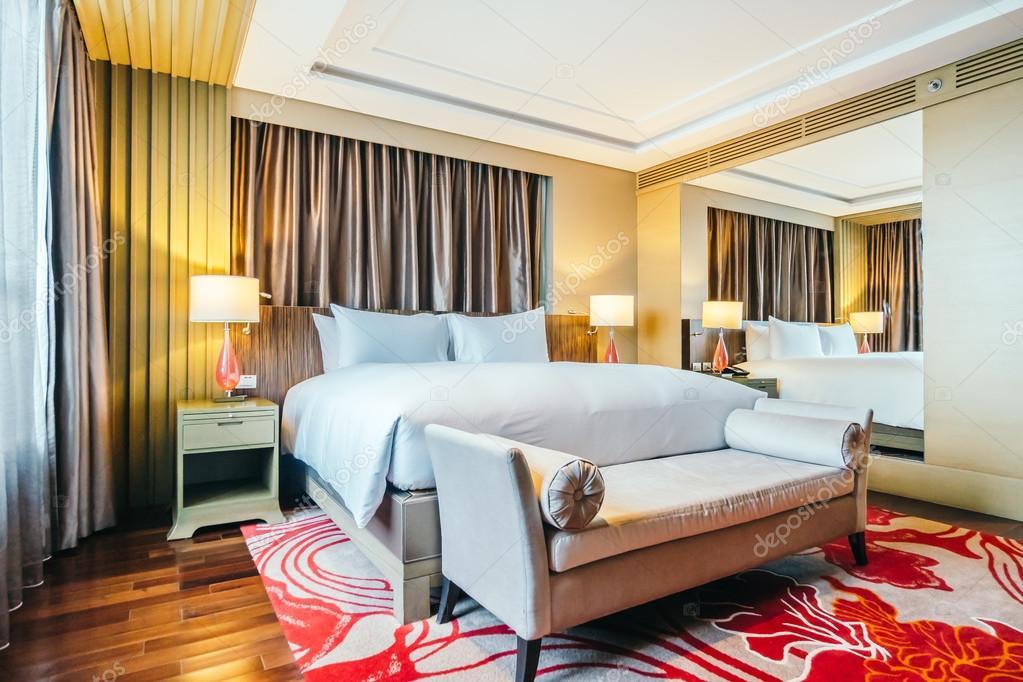 BANGKOK, THAILAND - AUGUST 12 2016: Beautiful luxury bedroom interior  decoration in Hotel  Photo by mrsiraphol