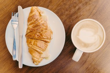 Croissant coffee cup