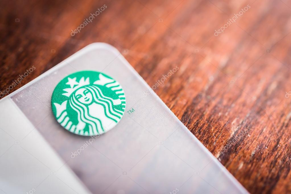 BANGKOK, THAILAND - OCT 27, 2014: A new Starbucks card available